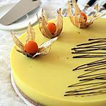 recette Entremet à la crème de citron et son biscuit { sans gluten sans lait sans oeufs }