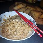 recette Nouilles de riz transparente sauce yakitori a la viande haché