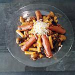 recette Les macaronis aux épinards , knackis  ........ à la mode Cookeo