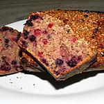 recette Pour ce gâteau, fruits des bois et flocons d'avoine