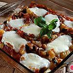 recette Gratin de gnocchis courgette tomate basilic