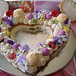 recette Un coeur pour Mémé  Christiane      ...     fleurs    abeilles  et  coccinelles