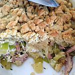 recette Crumble de courgettes au chèvre et parmesan - thermomix-