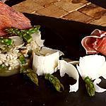 recette Risotto aux asperges, champignons et jambon cru