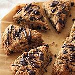 recette Scones à la fève de cacao et chocolat { sans gluten, sans lait, sans oeufs }