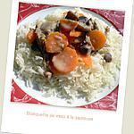 recette Blanquette de veau à la sauteuse ou au Cooking chef