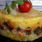 recette Parmentier au poulet, aubergine et coriandre