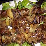 recette Brochettes de foie ,coeur, rognon de boeuf