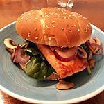 recette Burger de saumon à l'ananas