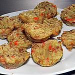 recette Minis muffins au thon et légumes