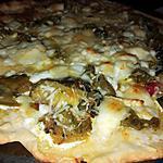 recette Pizza crème légumes chèvre miel