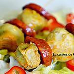 recette Brochettes de chorizo et artichaut