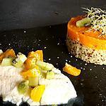 recette Filet de dorade citron vert kiwi mandarine  ( sans matière grasse )