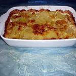 recette Gratin ps de terre/raclette/bleu/blancs de volaille