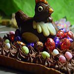 recette Tarte chocolat caramel pour Pâques