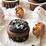 recette Muffins au chocolat et leur ganache { sans gluten, sans lait, sans œufs }