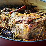 recette Gigot d'agneau de Pâques cuit au foin