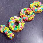 recette Number Cake Rainbow / Bonbons