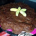 recette Gâteau de chapelure de pain rassi au cacao et bonbon banane
