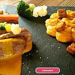 recette Magret de canard sauce acidulée carotte et orange