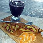 recette Goûter vitaminé : Smoothie à la mûre avec mangue et banane caramélisées