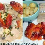 recette SALADE DE FILETS DE HARENGS A L'ORANGE