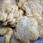 recette biscuits salés saux fromages et aux herbes