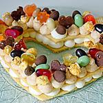 recette Un number cake revisité en heart cake!