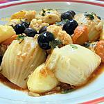 recette TORCHI OU CHARMOULA DE LEGUMES / FENOUIL- CHOU FLEUR- CAROTTES- POMMES DE TERRE