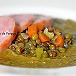recette Soupe de lentilles et saucisse de Morteau