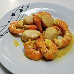 recette Saint Jacques et crevettes à l'orientale