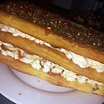 recette Milles feuilles mascarpone banane caramel