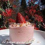 recette Verrines de bavarois aux fraises