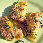 recette Ravioles chèvres et poulet, sauce épicée au miel
