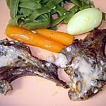 recette Côtelettes d'agneau à la poêle avec légumes