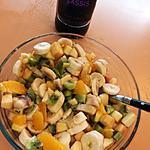 recette Salade de fruit a la crème de cassis