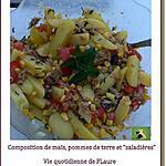 """recette Composition avec maïs, pommes de terre et """"saladières"""""""