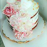 recette Naked-cake Fleurs et coeurs
