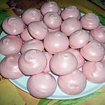 """recette meringues à la fraise """"note"""" malabar"""