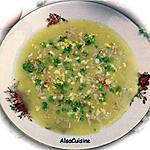 recette Velouté d'asperges vertes au crabe