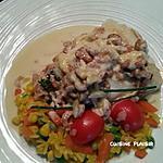 recette Dos de cabillaud sauce fromage et aux crevettes grises
