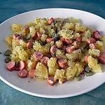 recette Salade ps de terre persillées/knackis/cornichons