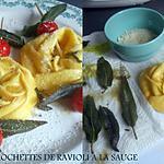 """recette BROCHETTES DE RAVIOLI """"ciambellone"""" A LA SAUGE"""