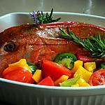recette Rouget grondin au vin blanc, cuisson au four