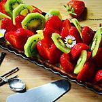 recette Tarte fraises kiwi sur crème pâtissière très vanillée