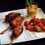 recette Keftas de poulet à la menthe, tartare de deux tomates et houmous maison