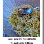 recette Salade de chou-rave râpé et pistaché