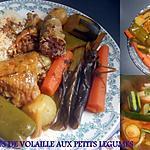 recette COUSCOUS DE VOLAILLE AUX PETITS LEGUMES