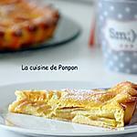 recette Flamusse aux pommes et ricotta, sans beurre