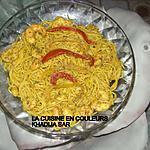 recette Spaghettis safranés aux crevettes